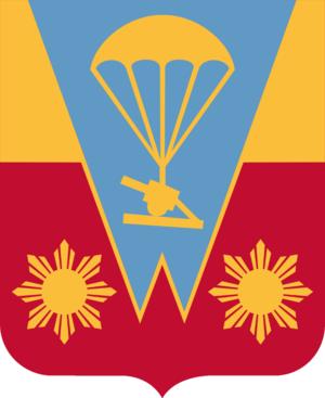 674th Airborne Field Artillery Battalion - Image: 674 FA COA