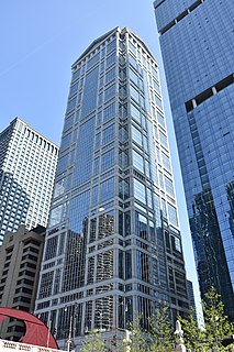77 West Wacker Drive office building in Chicago, Illinois, United States