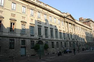 Italian Neoclassical architecture - Image: 8878 Milano P.za Belgiojoso Palazzo Belgiojoso Foto Giovanni Dall'Orto 14 Apr 2007