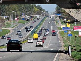 A2 road (Latvia) - Image: A2 LV Bergi