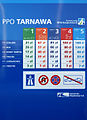 A2 (Poland) Tarnawa toll plaza, price list.jpg