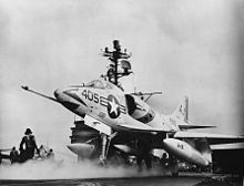 A4D-2 Skyhawk of VA-81 on catapult of USS Forrestal (CVA-59) in 1962.jpg