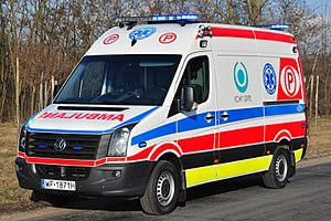Emergency medical services in Poland - A Volkswagen resuscitation ambulance is used throughout the entire country