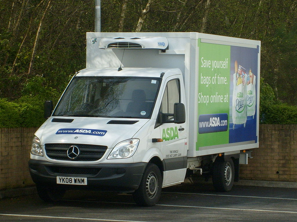 File a brand new asda mercedes benz sprinter delivery van for Mercedes benz brand image