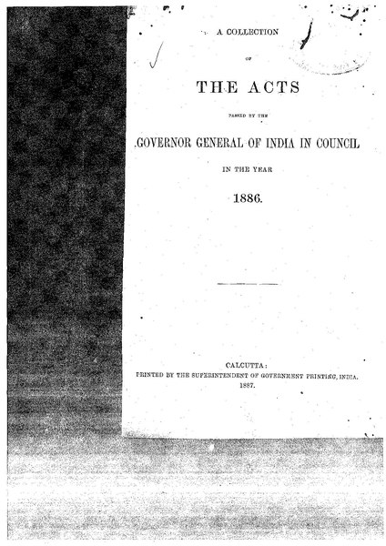 File:A Collection of the Acts passed by the Governor General of India in Council, 1886.pdf