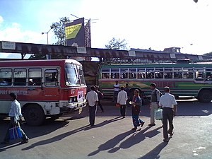 South Bengal State Transport Corporation - Image: A S.B.S.T.C bus ready to leave Asansol bus stand for Kolkata
