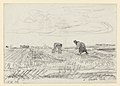 A field with a working man and woman, drawing by James Ensor, Prints Department, Royal Library of Belgium, S. IV 345.jpg