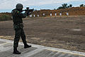 A member of the Guyana special operations forces team competes in the rifle qualification event for Fuerzas Comando 2012 June 7, 2012, at the Colombian National Training Center in Tolomaida, Colombia 120607-A-WK843-286.jpg