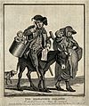 A pregant woman leading a donkey on which a crippled and dis Wellcome V0020359.jpg