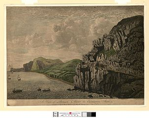 A view of Penmaen Mawr in Caernarvon Shire