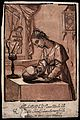A young woman contemplating a skull. Woodcut by A. Andreani Wellcome V0042070.jpg