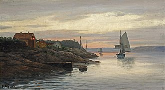 Martin Aagaard - Image: Aagaard martin 1863 1913 norwa setting sail from the fjords a