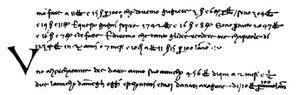 Paolo Dagomari di Prato - Text from a manuscript of his Trattato d'Abbaco in Paolo's own handwriting