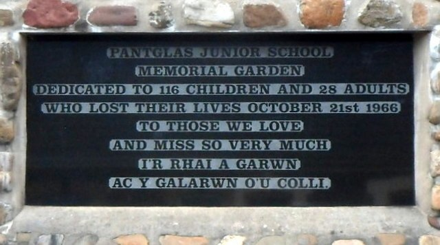 Aberfan Memorial Garden dedication plaque - 3031769 afe588eb