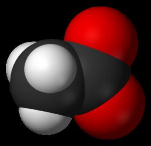 Acetate - Image: Acetate anion 3D vd W