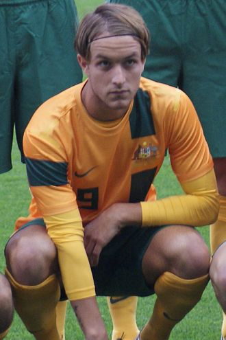 Adam Taggart - Taggart with the Young Socceroos in 2013