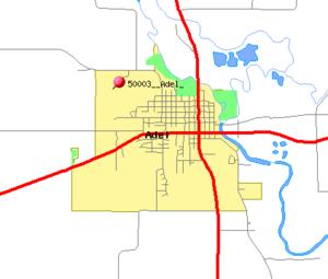 Adel, Iowa - Image: Adel IA