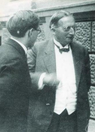 Adolf Kneser - Adolf Kneser in Prague, Sep.1929