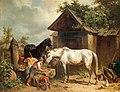 Adolf van der Venne Pferde am Bauernhof 1866.jpg