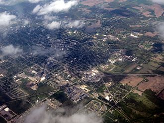 Adrian, Michigan - Aerial photo of Adrian, 2014