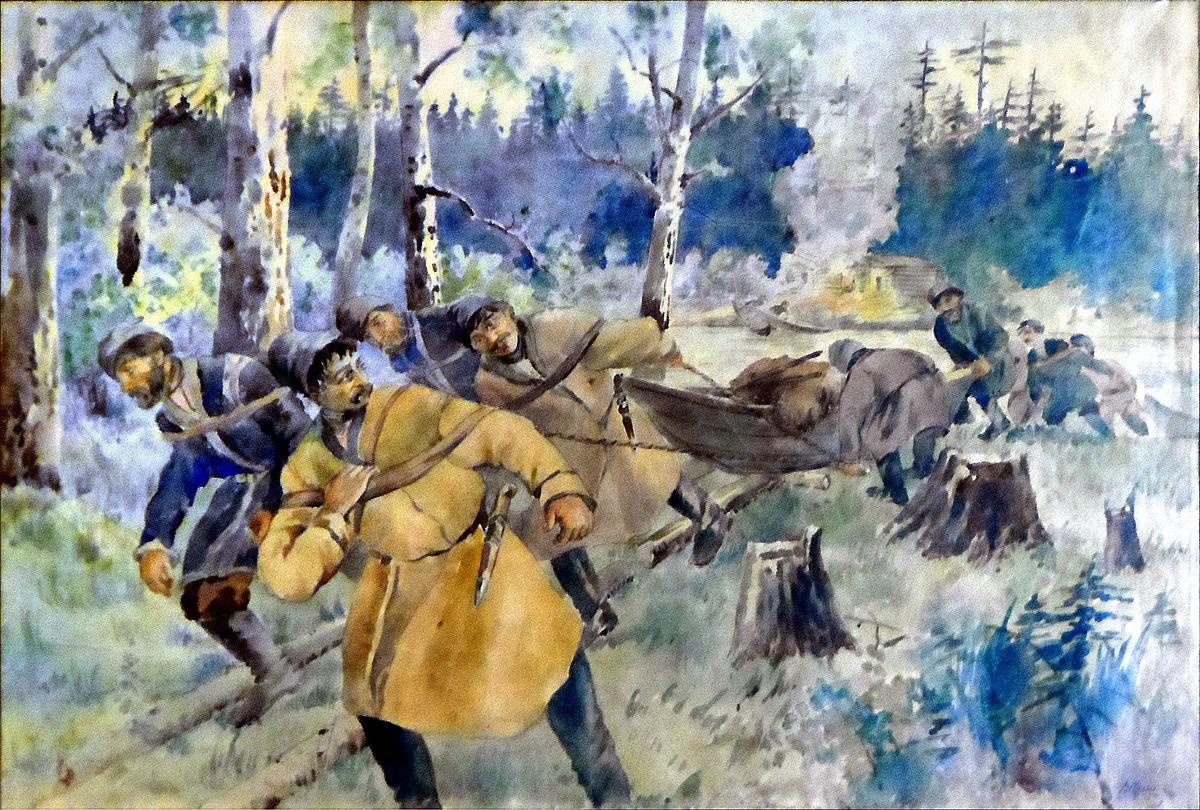 Russian Fur Hunters In 119