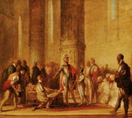 King Afonso V of Portugal knights the Prince John