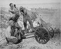 After the Marines captured this mountain gun from the Japanese at Saipan, they put it into use during the attack on... - NARA - 532384.tif