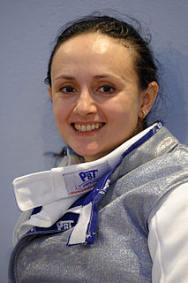 Aida Mohamed Hungarian foil fencer