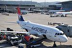 Air Serbia Airbus A319-131 - YU-APB (ZRH) (19802742243).jpg