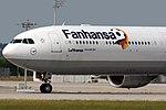 """Airbus A340-642 Lufthansa D-AIHQ """"Fanhansa"""" (14273658697).jpg"""