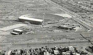 Al-Shaab Stadium - Al-Shaab Stadium under construction in 1965.