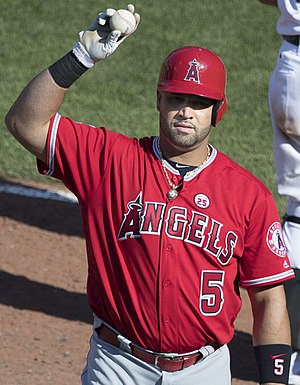 Albert Pujols - Pujols with the Angels in 2017