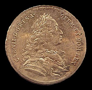 Charles VII, Holy Roman Emperor - Thaler coin of Charles VII, dated 1743