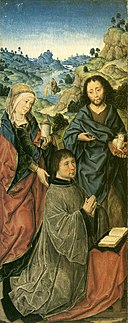 Albrecht Bouts - Mary Magdalene, Saint John the Baptist and a Donor.jpg