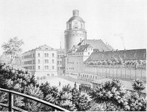 Pleissenburg - The Pleissenburg about 1860