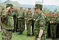 Alexander Kolmakov receiving a report for duty – July 27, 2004.jpg