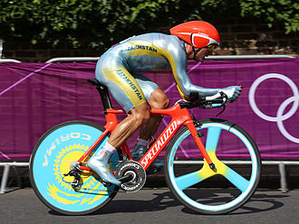 Kazakhstan at the 2012 Summer Olympics - Alexander Vinokourov in men's road time trial.