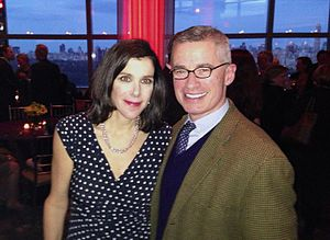 HBO - Filmmaker Alexandra Pelosi and former New Jersey Governor Jim McGreevey at the New York City premiere of Pelosi's HBO documentary about McGreevey, Fall to Grace, in March 2013.