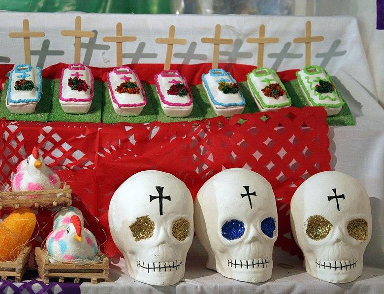 Zuckerfiguren zum Tag der Toten in Mexiko. Foto von: Tomás Castelazo
