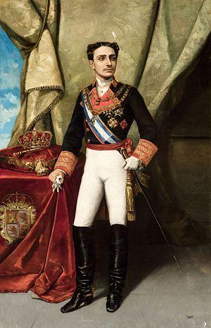 Spanish Royal Crown - Image: Alfonso XII (Ayuntamiento de Sevilla)