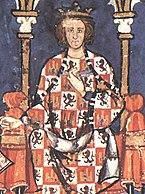 Alfonso X en una miniatura medieval del Libro de los juegos.