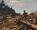 Alfred Munnings-LUMBERMEN AMONGST THE PINES (CWM 19710261-0481).jpeg