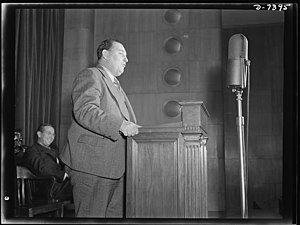 Leon Henderson - Leon Henderson speaking at an OPA training session in 1942.