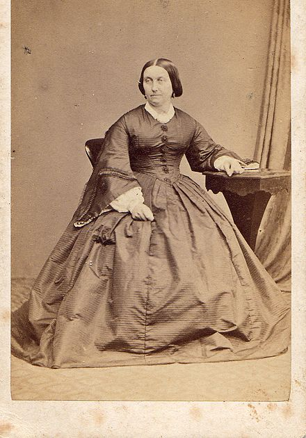 Photograph of Alice Smith (born c. 1817 Whitby, North Riding of Yorkshire died 1893). Mother of Rev Thomas Thistle (1853 -1936) and Hannah Elizabeth Vowles nee Thistle (1842-1903) AliceThistle(neeSmith)motherofHannahElizabethVowles(neeThistle)2.jpg
