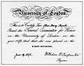 Alice Mary Marsh University of London General Examination for Women certificate 1878.jpg