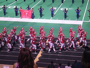 Alief Taylor High School - The Alief Taylor football team prior to kickoff