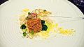 Alinea Bigeye Tuna, artichoke, garlic, bottarga (2771128417).jpg