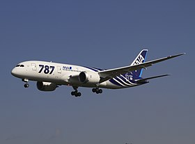 Boeing 787 d'All Nippon Airways, client de lancement.