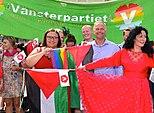 Centerpartiet og Venstrepartiet, med oprindelser inden for bondebevægelsen respektive radikal arbejderbevægelse.