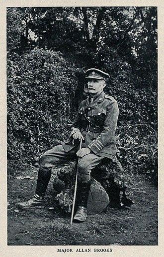 Allan Brooks - Major Brooks in 1917